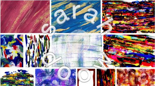 Abstract painted background by Sarah Doow at Shutterstock